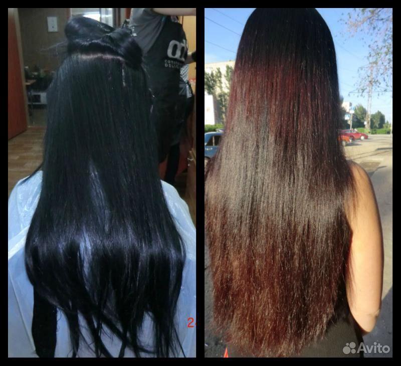 Как сделать смывку для темных волос 530