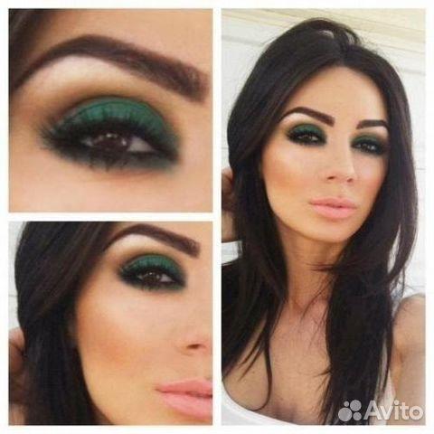 Макияж для темно зеленых глаз пошаговое