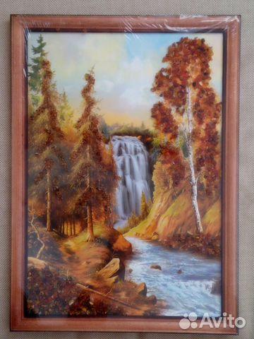 Картина панно с янтарём 89780676066 купить 1