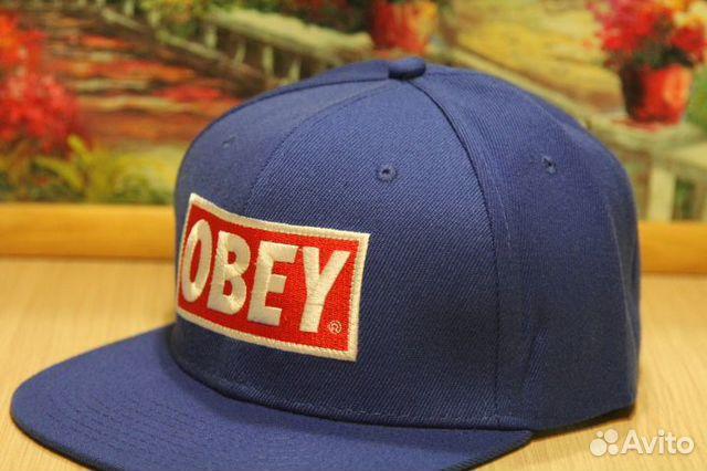 Кепка бейсболка Obey новая. Синяя. Снэп купить в Санкт-Петербурге ...