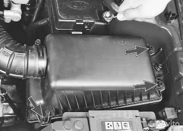 Замена воздушного фильтра киа спектра своими руками 48