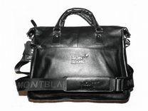 e7df5e33c620 Мужская кожаная сумка Montblanc новая стильная A4