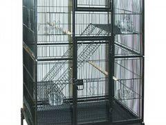 Продам клетку с двумя волнистыми попугайчиками