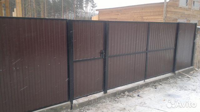 Где можно заказать ворота с калиткой в г улан удэ купить забор в питере