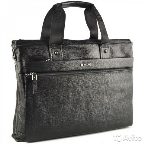 Мужская кожаная сумка -Prada A4 Мужские сумки - Личные вещи, Одежда, обувь,  аксессуары - Москва - Объявления на сайте Авито 0f17125161a