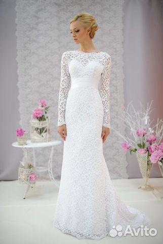 b8be22f6ef2 Белое свадебное платье Greis Kelly + фата купить в Москве на Avito ...