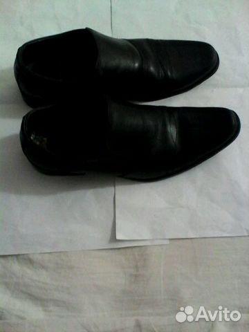 Ботинки летние черные, немного б/у, размер 38, муж 89274011531 купить 1