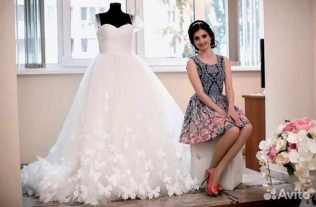 9027c659f9b Прокат  продажа свадебное платье. Бабочки купить в Москве на Avito ...