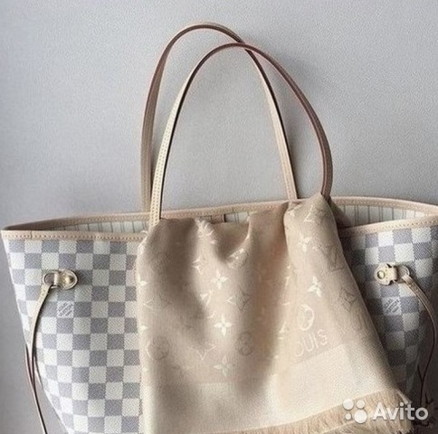d6cbb928316c Белая Louis Vuitton Neverfull Azur Сумка Виттон Лу | Festima.Ru ...
