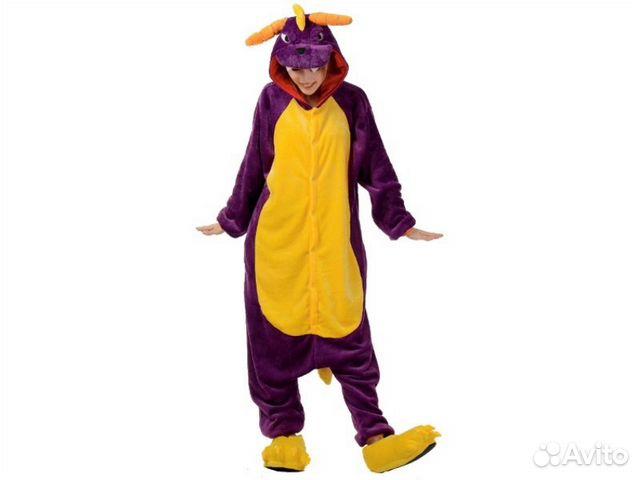 Кигуруми (kigurumi) пижама костюм Дракон Спайро 0ecc45426451a