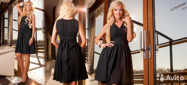 41b7affb98a Нарядное платье из чёрного шифона