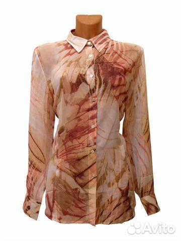 8d6d4c69a Шифоновая блузка рубашка,вискоза,Италия,новая 6222 купить в Москве ...