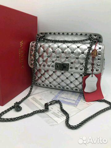 8cd7a89c1c80 Новая сумка клатч Valentino серебро купить в Москве на Avito ...