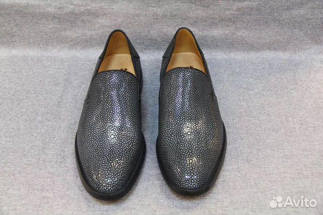 Мужские туфли лоферы из полированной кожи ската   Festima.Ru ... 1b3a1bfd126
