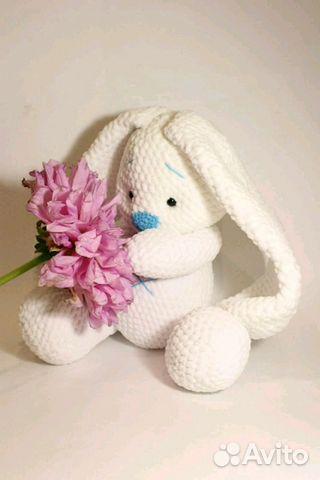 вязаная игрушка заяц купить в саратовской области на Avito