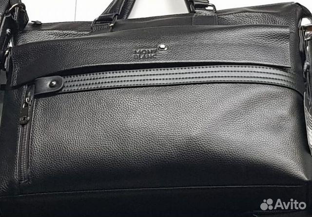 7e48c551886e Сумка-портфель мужская Montblank кожанная | Festima.Ru - Мониторинг ...