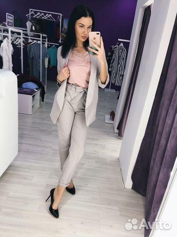 78517734 Женский светлый брючный костюм пиджак брюки | Festima.Ru ...