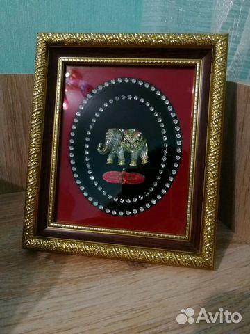 Картина, рамка, слон из Тайланда