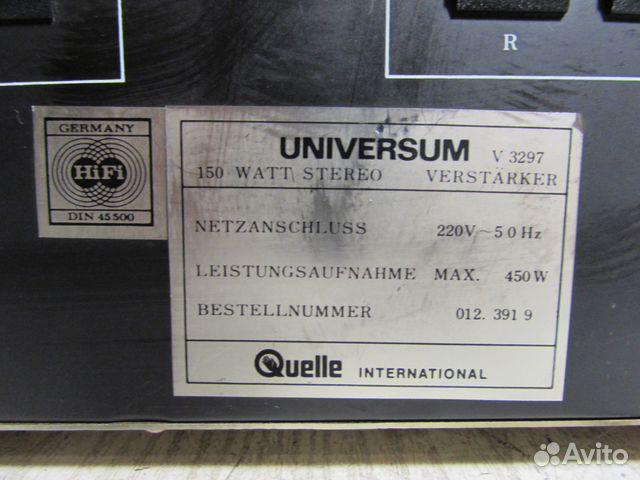 Universum V3297 Стерео Усилитель Germany 88129885308 купить 8