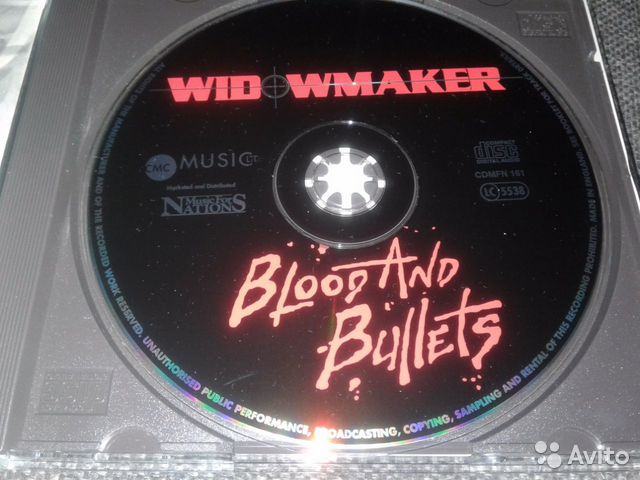 Widowmakerblood AND bullets 93г.CD  89069901803 купить 3