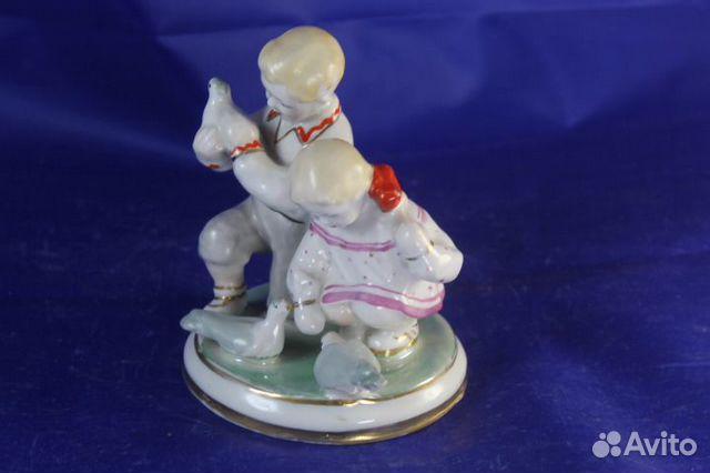 Фарфор статуэтка Дети и голуби Старый Киев Глобус 89203149703 купить 6