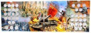 Капсульный альбом для монет 70 лет победы в ВОВ