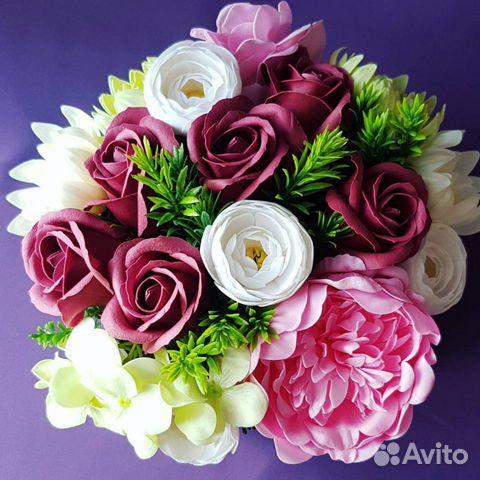 Букет из мыльных цветов купить на Зозу.ру - фотография № 2