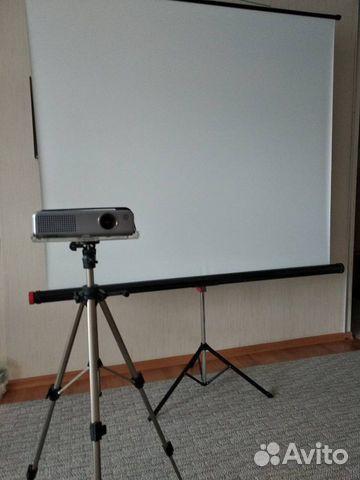 Проектор Panasonic PT-P1SDE+Экран 160х160напольный  89193505651 купить 3