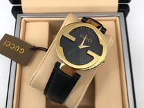 Часы Gucci новые чёрные