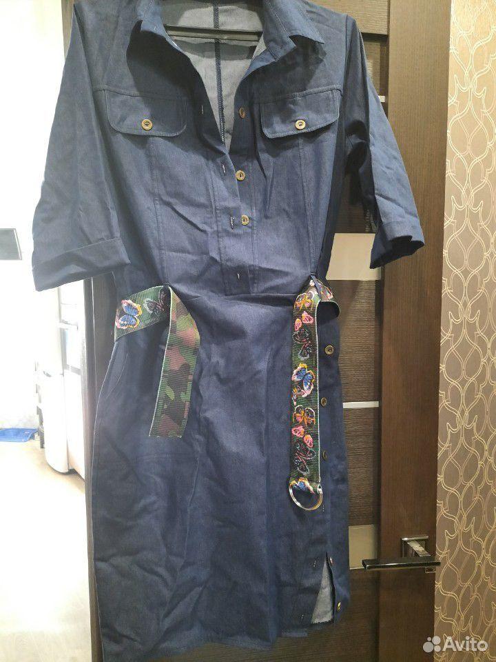 Платье джинсовое 50-52 размер,новое