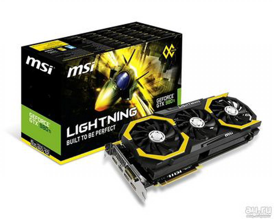 Видеокарта GeForce MSI Lightning 980ti 6гб