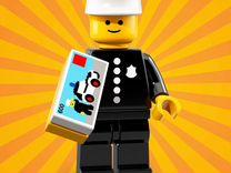 Редкая Lego минифигурка Классического Полицейского