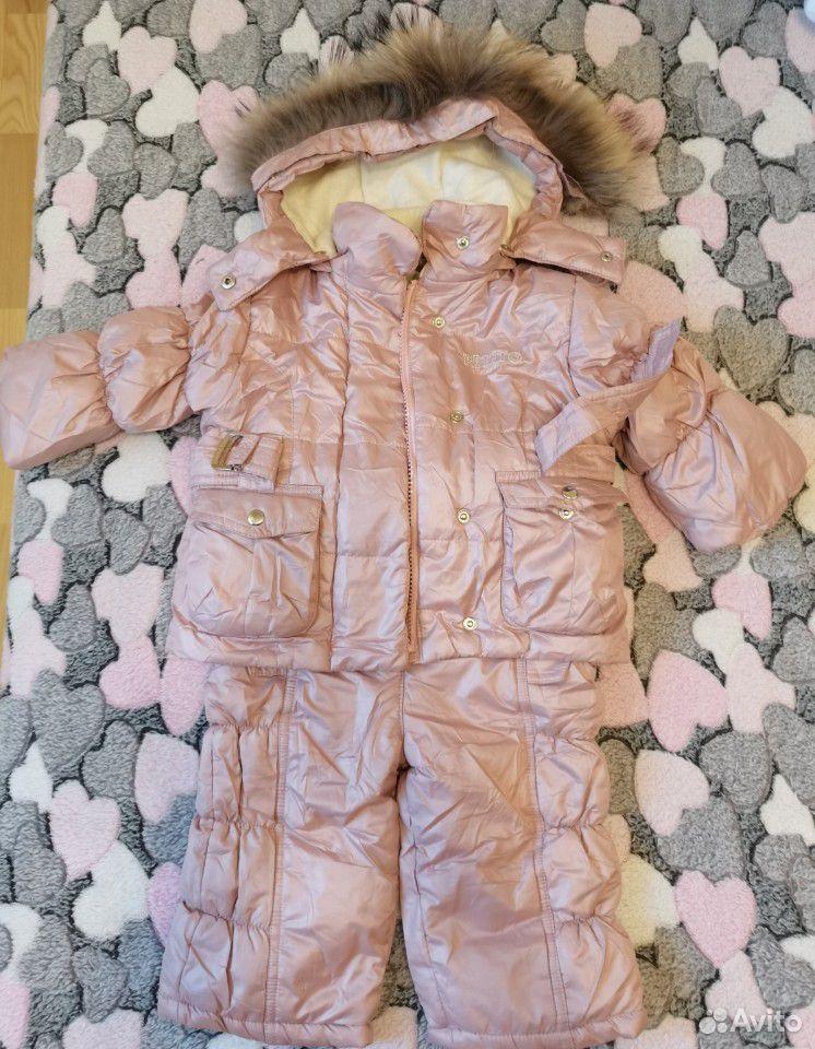 Зимний костюм на девочку 1-1,5 года