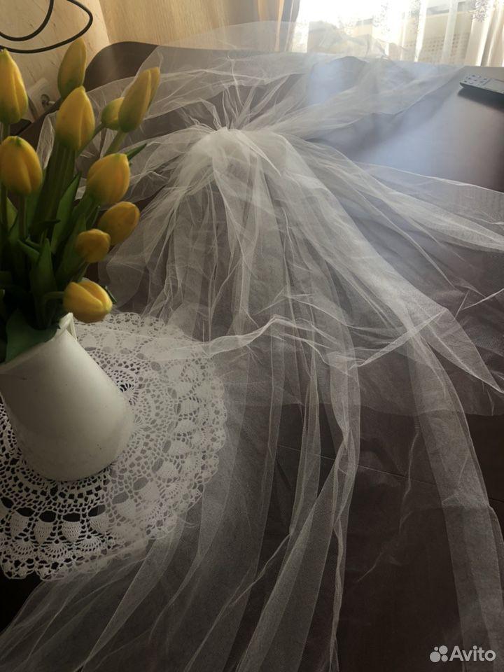 Свадебная фата в пол трехслойная  89818224760 купить 2