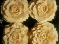 Резные цветы из мыла