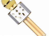 Караоке микрофон ws-858 золотой