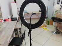 Кольцевая лампа 48 см., рег-вка темп-ры света