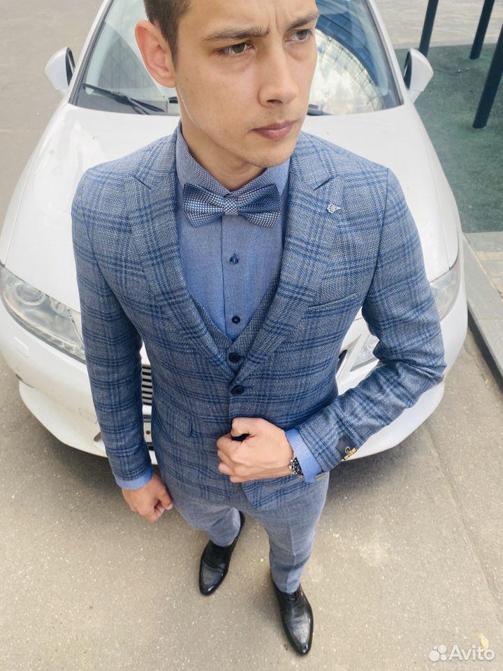 Серо синий костюм  89999758742 купить 7