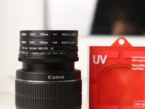 Canon EF-S 18-55mm 3.5-5.6 III +насадки