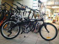 Велосипед новый дорожный складной, алюминиевый