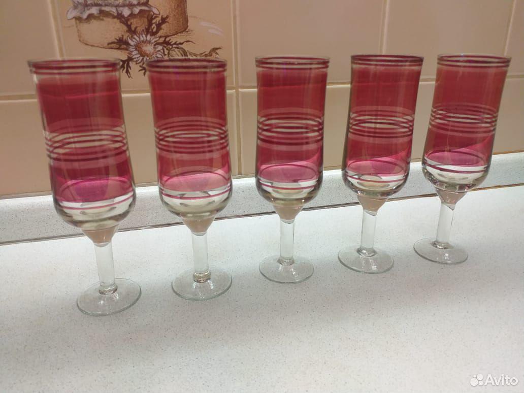 Стеклянные рюмки, бокалы из цветного стекла СССР  89807548898 купить 7