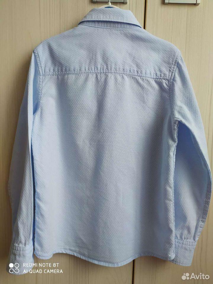 Рубашка голубая на рост 122см  89065035959 купить 4
